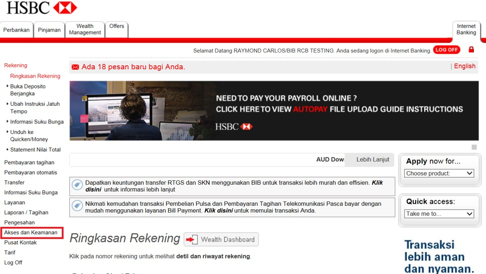 Business Internet Banking | HSBC Indonesia